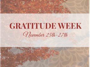 Gratitude Week 2013