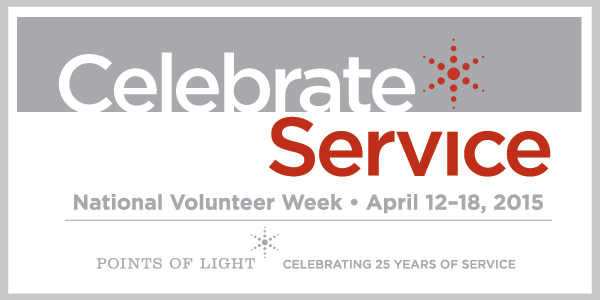 This year, National Volunteer Week takes place April 13 – 17. National Volunteer Week 2015 is sponsored by Points of Light and the Advil® Relief in Action campaign.